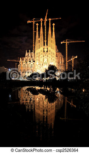 The Sagrada Familia Church in Barcelona - csp2526364