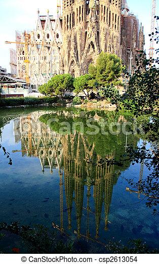 The Sagrada Familia Church in Barcelona - csp2613054