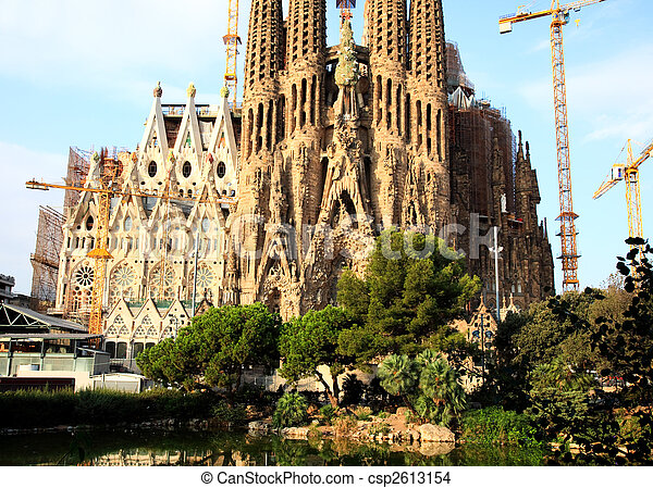 The Sagrada Familia Church in Barcelona - csp2613154