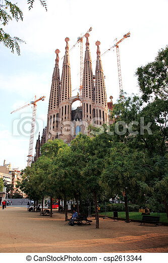 The Sagrada Familia Church in Barcelona - csp2613344
