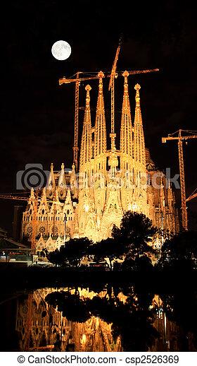 The Sagrada Familia Church in Barcelona - csp2526369