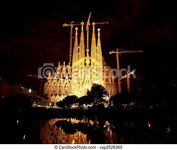The Sagrada Familia Church in Barcelona - csp2526360