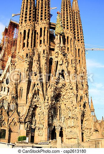 The Sagrada Familia Church in Barcelona - csp2613180