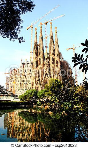 The Sagrada Familia Church in Barcelona - csp2613023