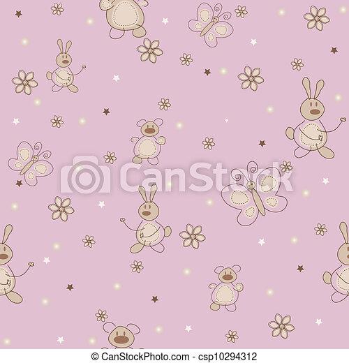 The sample of nurseries wallpaper - csp10294312