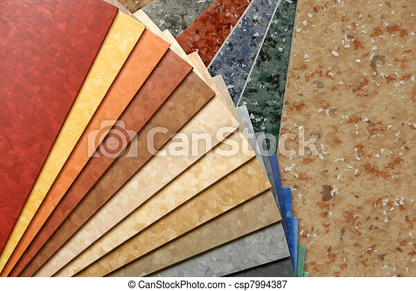 The samples of collection linoleum - csp7994387