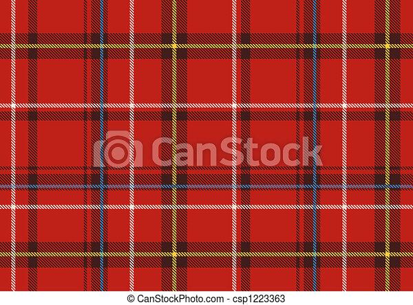 The Scottish plaid - csp1223363