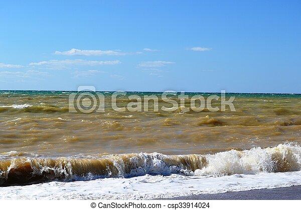 The sea worries - csp33914024