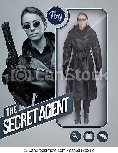 The secret agent lifelike doll - csp53128212