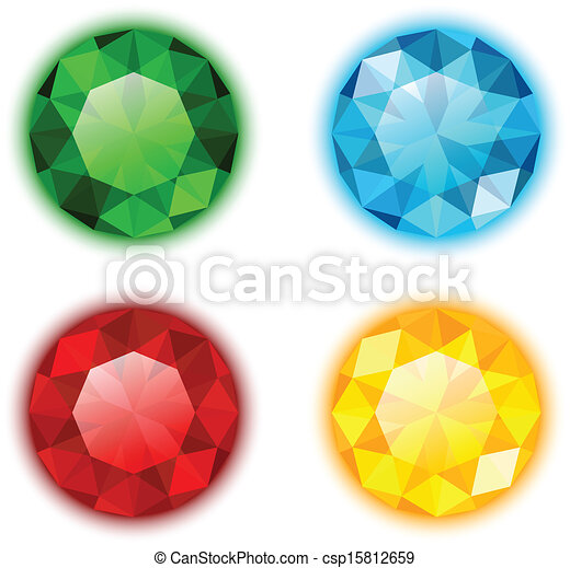 The Set of Four Colorful Gems - csp15812659