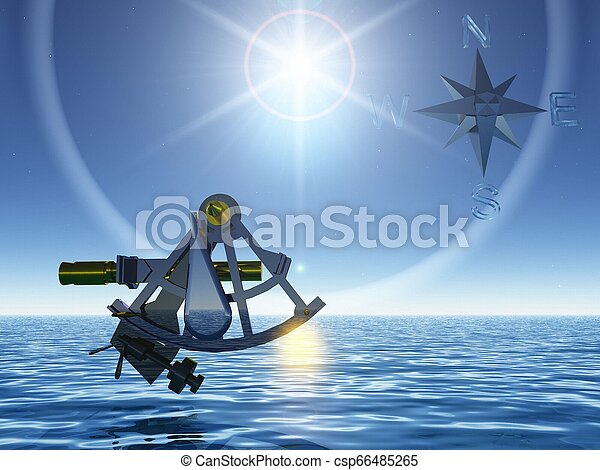 the sextant and the sea - csp66485265