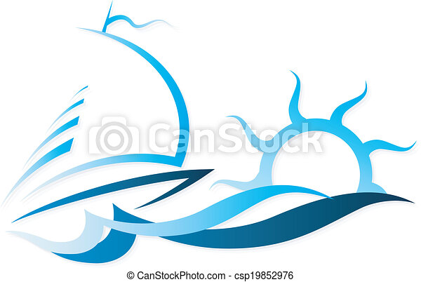 the ship on waves vector ship on the waves and sun for a vector rh canstockphoto com wave vector units wave vector art