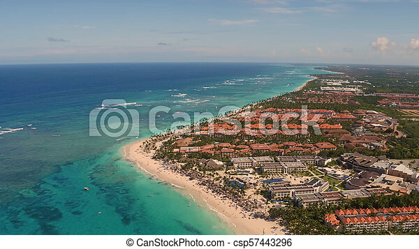 The shore of the sea from a bird's eye view - csp57443296