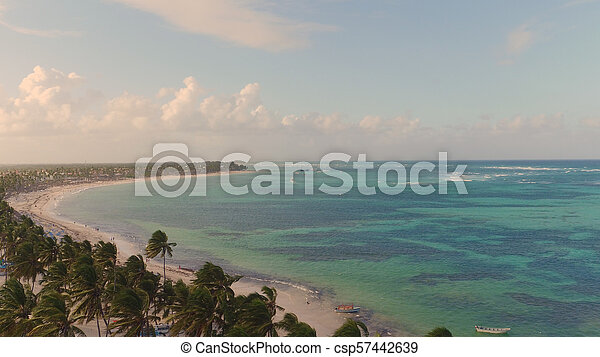 The shore of the sea from a bird's eye view - csp57442639