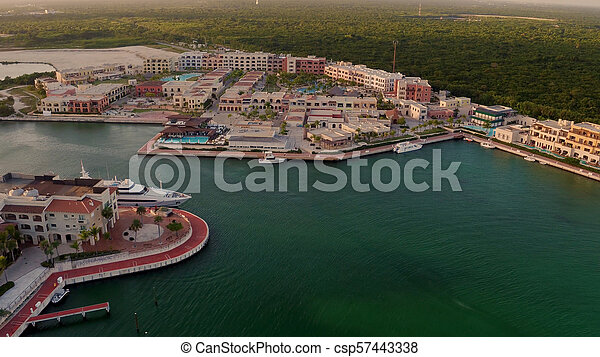 The shore of the sea from a bird's eye view - csp57443338