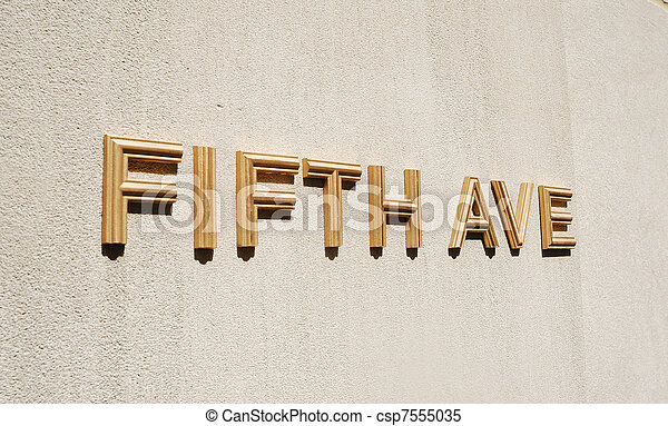 The sign Fifth Ave in New York City - csp7555035