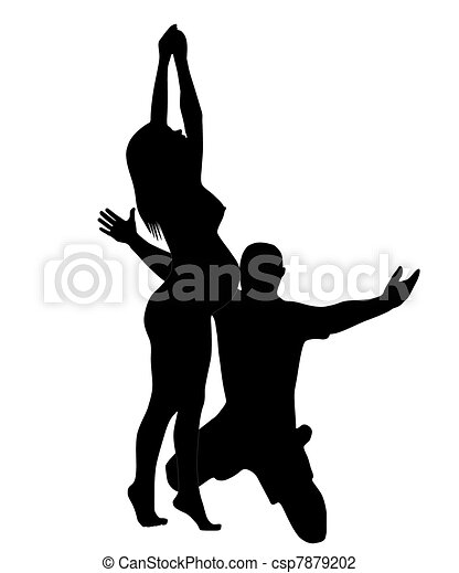 The Silhouette Of The Pregnant Woman And Men The Silhouette Of The