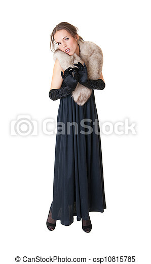 the slim sensual girl - csp10815785
