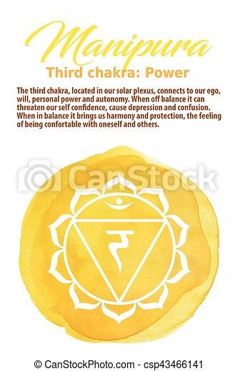 The Solar Plexus Chakra vector illustration - csp43466141