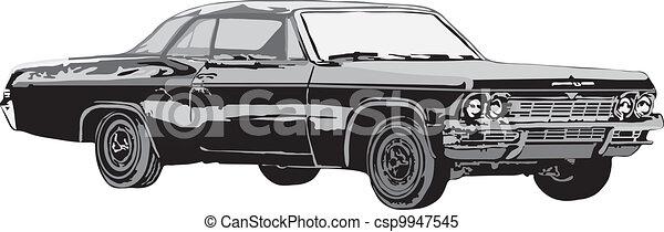 The sport car and retro car - csp9947545