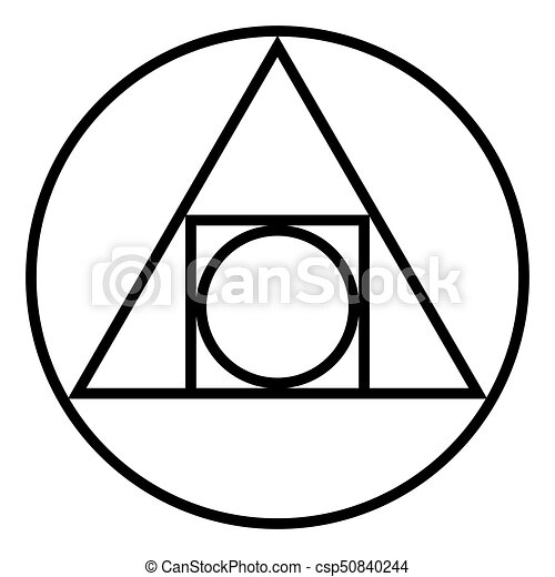 The Squared Circle Alchemical Glyph And Symbol The Squared Eps