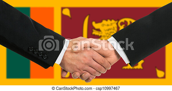 The Sri Lanka Flag Stock Photo