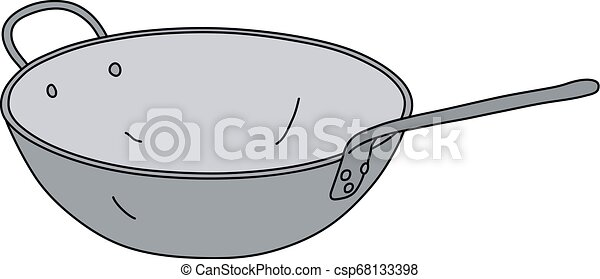 The stainless steel chinese pan - csp68133398