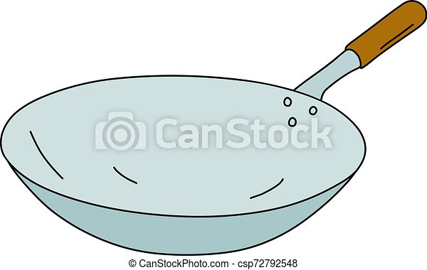 The stainless steel chinese pan - csp72792548