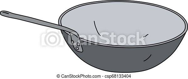 The stainless steel chinese pan - csp68133404