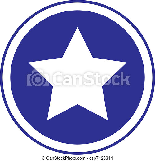 The star in circle blue sign - csp7128314