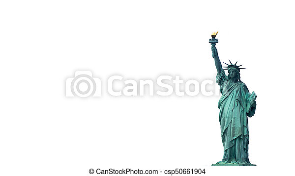 The Statue of Liberty in New York City Downtown - csp50661904