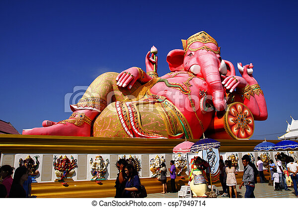 The statue of Lord Ganesh - csp7949714