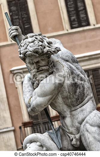 the statue of Neptune - csp40746444
