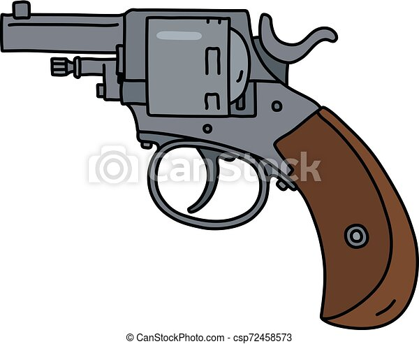 The steel short revolver - csp72458573
