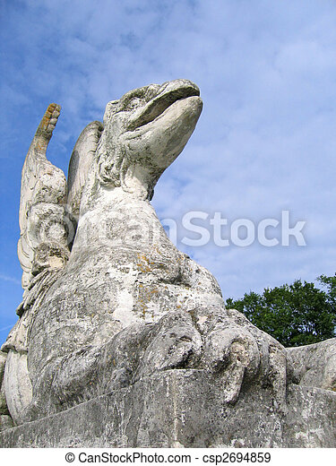 The stone statue of griffin - csp2694859