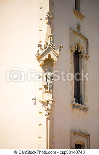 The stucco on corner of the house - csp30140740