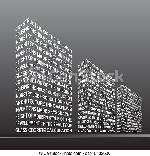 the stylized building is made up of vector clipart csp10432600 jpg