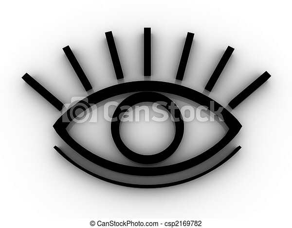 The stylized eye - csp2169782