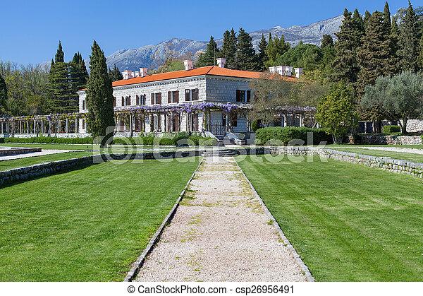 The summer residence of the Yugoslav King - csp26956491