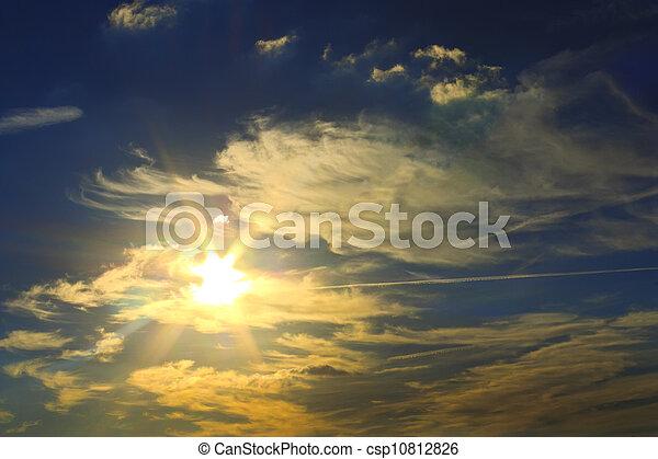The sun shines through the clouds - csp10812826