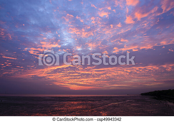 The sunset sky with cloud - csp49943342