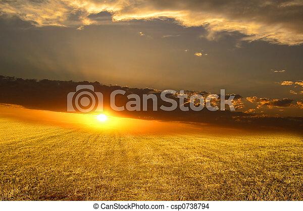 The sunset - csp0738794