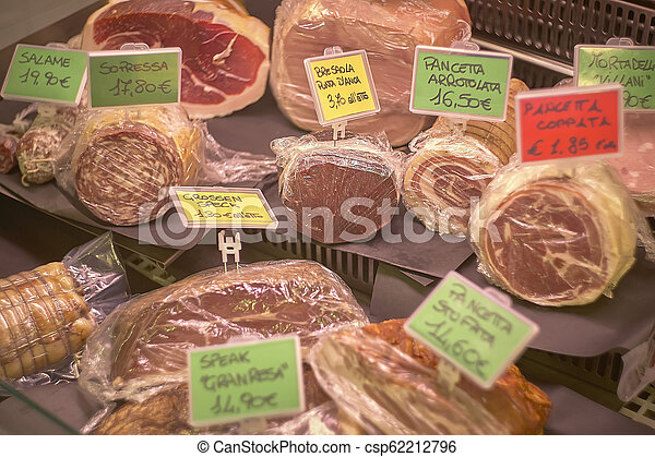 The supermarket slicing counter. - csp62212796