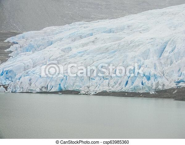 The Svartisen Glacier, Norway - csp63985360