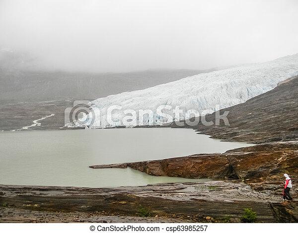 The Svartisen Glacier, Norway - csp63985257