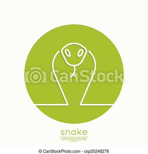 The symbol of the snake. - csp25248276