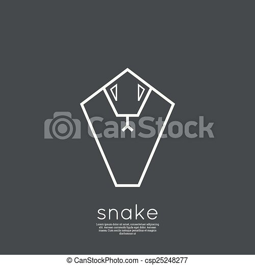 The symbol of the snake. - csp25248277