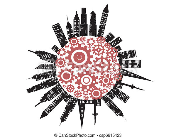 the symbol of working city - csp6615423