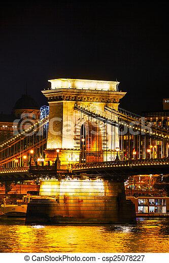The Szechenyi Chain Bridge in Budapest - csp25078227