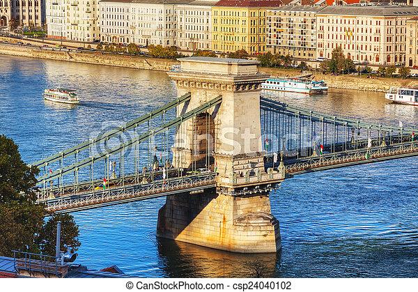 The Szechenyi Chain Bridge in Budapest - csp24040102